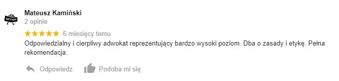 Mateusz Kamiński - opinia