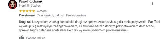 P. Kucharuk - opinia